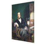 Retrato de Charles Dickens (aceite en lona) Impresiones En Lienzo Estiradas