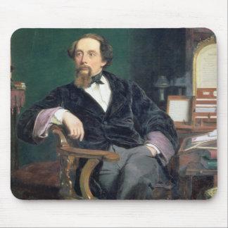 Retrato de Charles Dickens (aceite en lona) Tapete De Ratón
