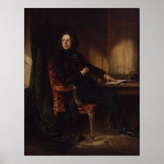 Retrato de Charles Dickens de Daniel Maclise Póster