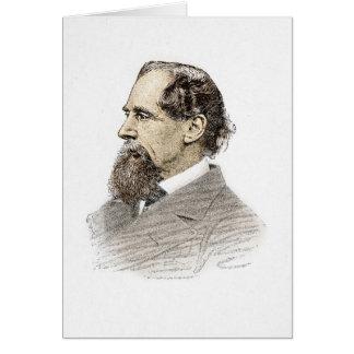 Retrato de Charles Dickens Tarjeton