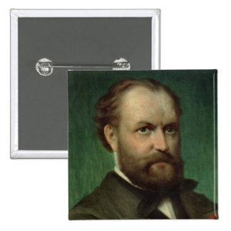 Retrato de Charles Gounod Pin Cuadrado