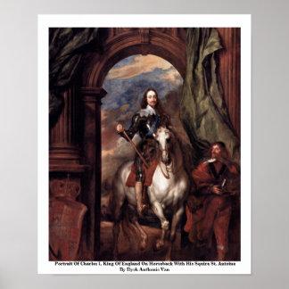 Retrato de Charles I, rey de Inglaterra Poster