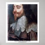Retrato de Charles I, rey de los detalles de Ingla Poster