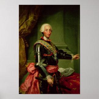Retrato de Charles III c.1761 Póster
