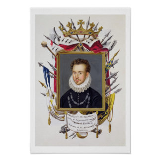Retrato de Charles IX de Francia (1550-74) de 'M Póster