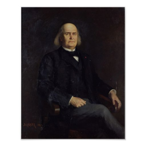 Retrato de Charles Leconte de Lisle 1885 Poster