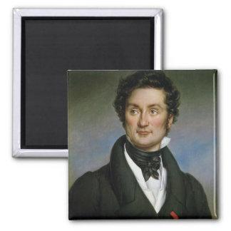 Retrato de Charles Nodier 1824 Imán Cuadrado