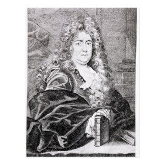 Retrato de Charles Perrault Tarjeta Postal