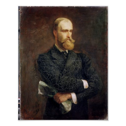 Retrato de Charles Stewart Parnell 1892 Póster