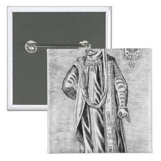 Retrato de Charles V, emperador romano santo Pin Cuadrado