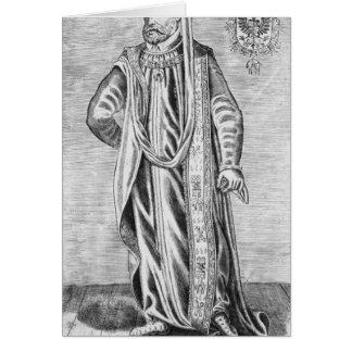 Retrato de Charles V, emperador romano santo Tarjeta De Felicitación