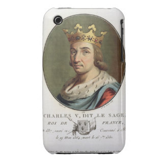 """Retrato de Charles V, llamado """""""" el rey sabio de F Funda Para iPhone 3"""