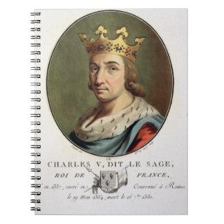Retrato de Charles V llamado el rey sabio de F Libreta