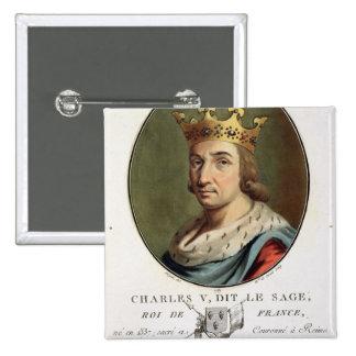 """Retrato de Charles V, llamado """""""" el rey sabio de F Pins"""