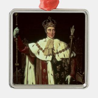 Retrato de Charles X de Francia, 1829 Adorno Cuadrado Plateado