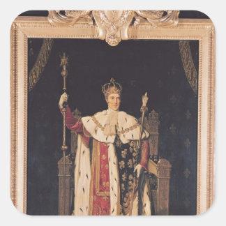 Retrato de Charles X en trajes de la coronación, Pegatina Cuadrada