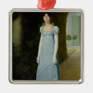 Retrato de Charlotte Bonaparte 1808 Adorno Navideño Cuadrado De Metal
