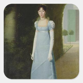 Retrato de Charlotte Bonaparte 1808 Calcomania Cuadradas Personalizada