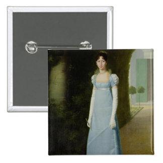 Retrato de Charlotte Bonaparte 1808 Pin Cuadrado