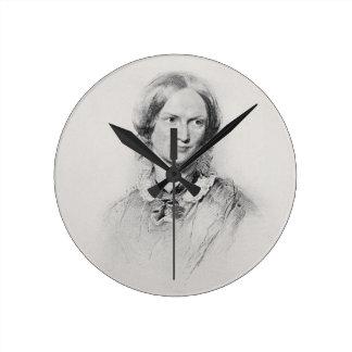 Retrato de Charlotte Bronte, grabado por el camina Reloj De Pared