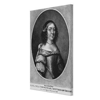 Retrato de Charlotte, condesa de Derby Impresión En Lienzo