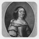 Retrato de Charlotte, condesa de Derby Pegatina Cuadrada