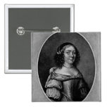 Retrato de Charlotte, condesa de Derby Pin Cuadrada 5 Cm
