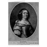 Retrato de Charlotte, condesa de Derby Tarjeta De Felicitación