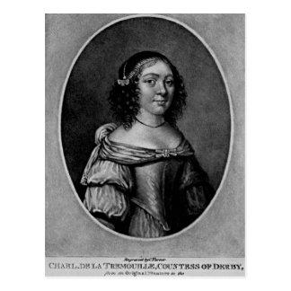Retrato de Charlotte, condesa de Derby Postal