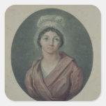 Retrato de Charlotte Corday después de 1793 Pegatina Cuadrada