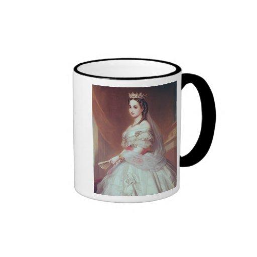 Retrato de Charlotte de Saxe-Cobourg-Gotha Tazas