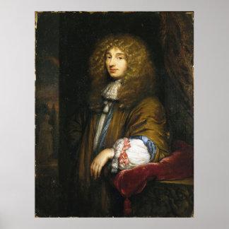 Retrato de Christiaan Huygens de Bernard Vaillant Poster