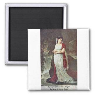 Retrato de Christine Boyer por Gros Antoine-Jean Iman De Frigorífico