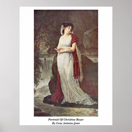 Retrato de Christine Boyer por Gros Antoine-Jean Póster