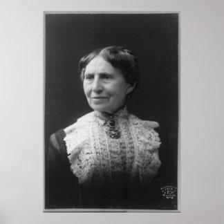Retrato de Clara Barton más adelante en vida Poster