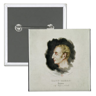 Retrato de Claude Enrique de Rouvroy Pin Cuadrado