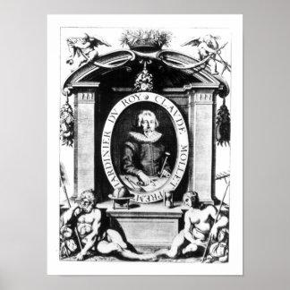 Retrato de Claude Mollet, frontispiece a 'Theatr Póster