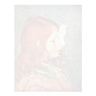 Retrato de Cocos de Pierre-Auguste Renoir Plantillas De Membrete