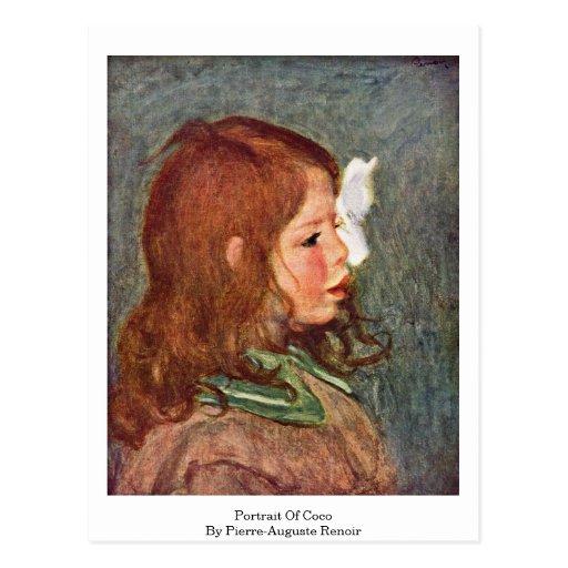 Retrato de Cocos de Pierre-Auguste Renoir Postal