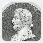 Retrato de Constantina el grande Calcomania Cuadradas Personalizada