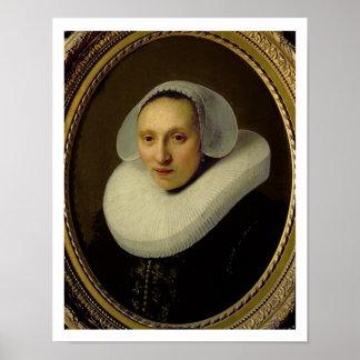 Retrato de Cornelia Pronck, esposa de Albert Cuype Poster