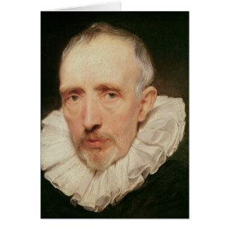 Retrato de Cornelio van der Geest, c.1620 Tarjeta De Felicitación