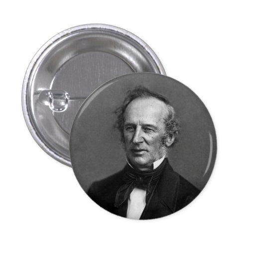 Retrato de Cornelio Vanderbilt del comodoro circa  Pin Redondo 2,5 Cm