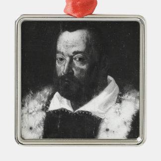 Retrato de Cristóbal Colón Adorno Navideño Cuadrado De Metal
