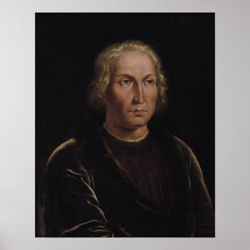 Retrato de Cristóbal Colón Posters