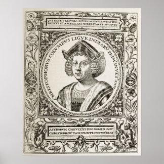 Retrato de Cristóbal Colón Poster