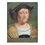 Retrato de Cristóbal Colón Postal