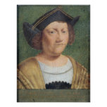 Retrato de Cristóbal Colón Póster