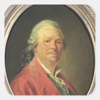 Retrato de Cristóbal Willibald von Gluck, 1777 Pegatina Cuadrada