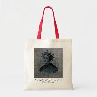 Retrato de Dante Alighieri Bolsa Lienzo